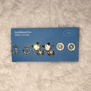 🌊⚓️Nautical Themed Gold Earrings- Set of 3!!⚓️🌊